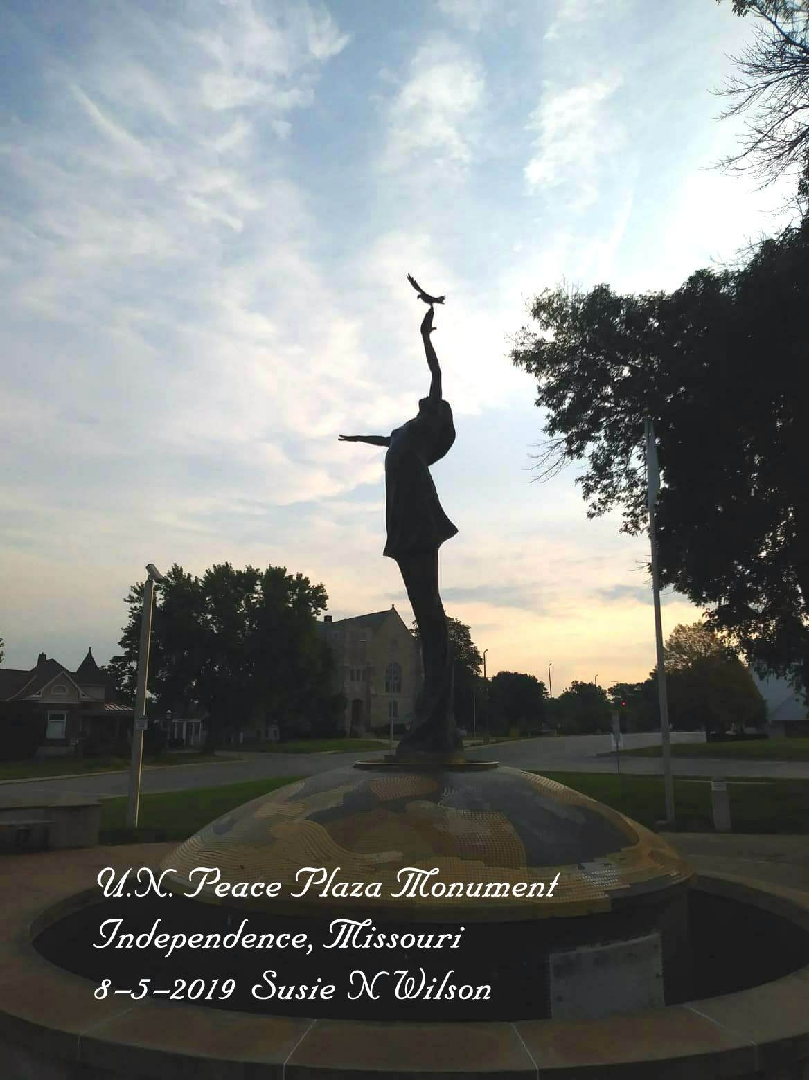 U.N. Peace Plaza Monument in Independence, Missouri
